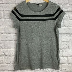 H&M Divided Women's Size S Top Cap Sleeve Net Gray